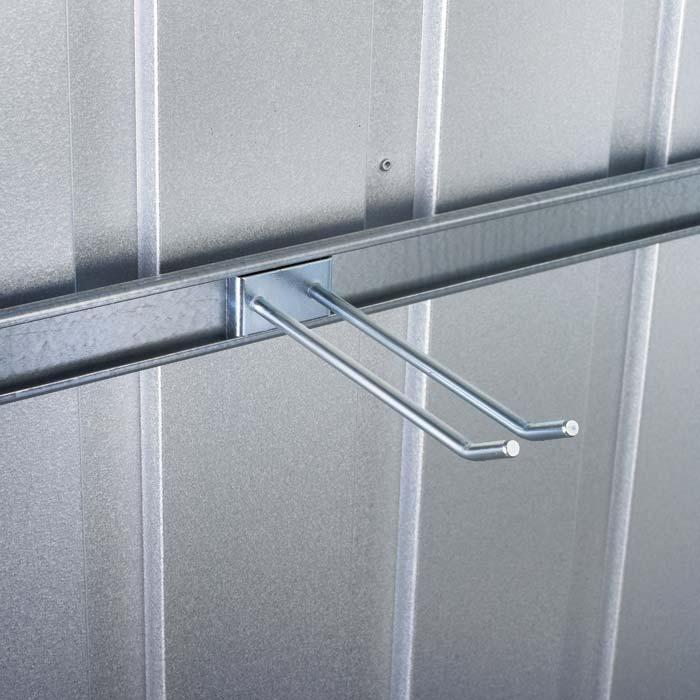 Universalhalter für Garagen und Gerätehäuser